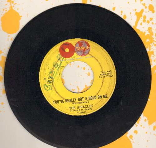 Miracles - You've Really Got A Hold On Me/Happy Landing (wol) - VG7/ - 45 rpm Records