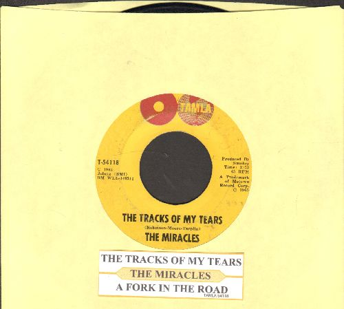 Miracles - The Tracks Of My Tears/A Fork In The Road (with juke box label) - VG7/ - 45 rpm Records