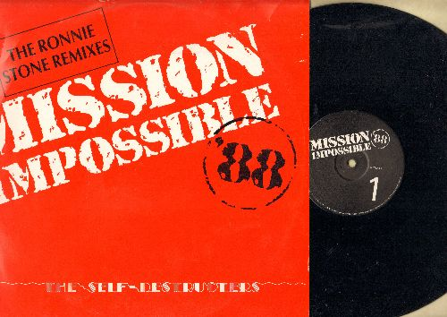 Selfdestructers - Mission Impossible '88 - The Ronnie Stone Remixes (12 inch vinyl Maxi Single with picture cover) - NM9/NM9 - Maxi Singles