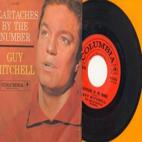 Mitchell, Guy - Heartaches By The Number/Two (with picture sleeve) - NM9/EX8 - 45 rpm Records
