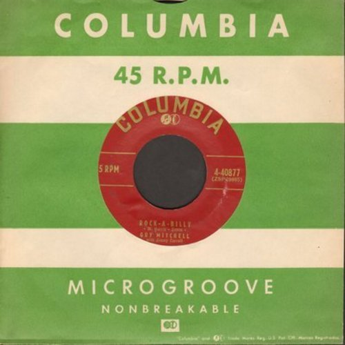 Mitchell, Guy - Rock-A-Billy/Hoot Owl (burgundy label first issue with Columbia company sleeve) - EX8/ - 45 rpm Records