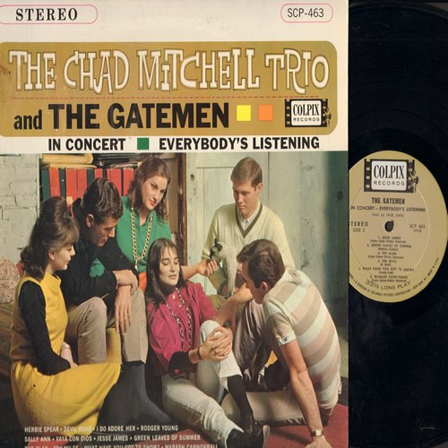 Mitchell, Chad Trio & The Gatemen - In Concert - Eveybody's Listening: Vaya Con Dios, 500 Miles, Devil Road, Jesse James, The Klan (Vinyl STEREO LP record) - NM9/EX8 - LP Records