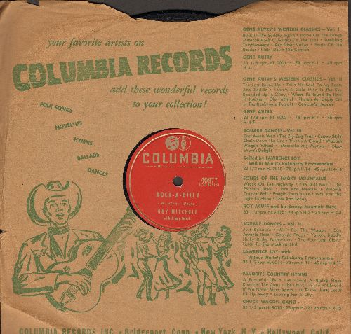 Mitchell, Guy - Rock-A-Billy/Hoot Owl (10 inch 78 rpm record with Columbia company sleeve) - VG7/ - 78 rpm
