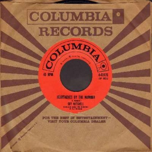 Mitchell, Guy - Heartaches By The Number (Ich zaehle taeglich meine Sorgen)/Two (with vintage Columbia company sleeve) - EX8/ - 45 rpm Records
