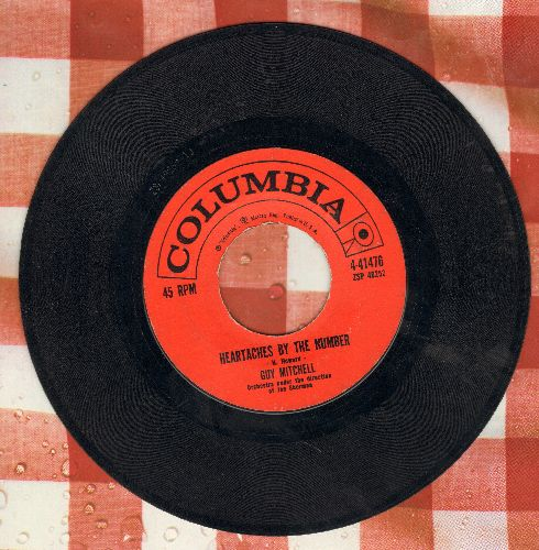 Mitchell, Guy - Heartaches By The Number (Ich zaehle taeglich meine Sorgen)/Two  - VG7/ - 45 rpm Records