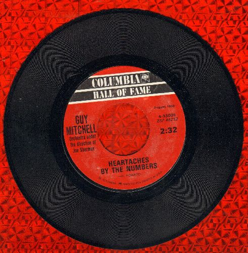 Mitchell, Guy - Heartaches By The Number/Singing The Blues (double-hit re-issue) - EX8/ - 45 rpm Records