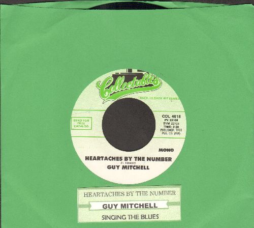 Mitchell, Guy - Heartaches By The Number/Singing The Blues (double-hit re-issue with juke box label) - NM9/ - 45 rpm Records