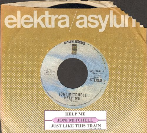 Mitchell, Joni - You Turn Me On, I'm A Radio/Urge For Going (with juke box label and Asylum company sleeve) - EX8/ - 45 rpm Records