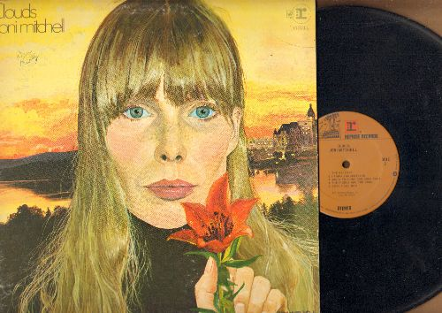 Mitchell, Joni - Clouds: Both Sides Now, Chelsea Morning, Tin Angel (vinyl STEREO LP record, gate-fold cover) - EX8/VG7 - LP Records