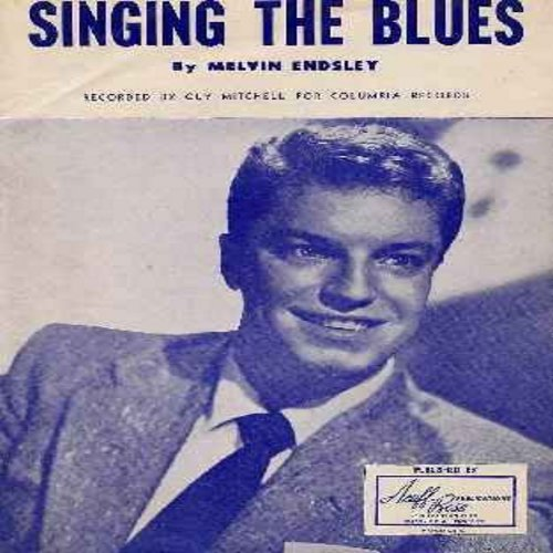 Mitchell, Guy - Singing The Blues - Original 1954 Sheet Music to the ballad made popular by Guy Mitchell - 50 years old, still in excellent condition! A RARE find! - EX8/ - Sheet Music