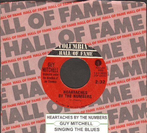 Mitchell, Guy - Heartaches By The Number/Singing The Blues (double-hit re-issue with juke box label and company sleeve) - NM9/ - 45 rpm Records