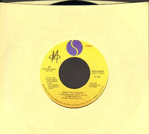 M - Join The Party/Working For The Corporation (RARE follow-up single to the World Hit -Pop Music-) - M10/ - 45 rpm Records