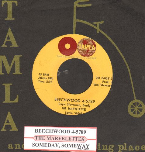 Marvelettes - Beechwood 4-5789/Someday, Someday (NICE condition with juke box label and RARE Tamla company sleeve) - NM9/ - 45 rpm Records