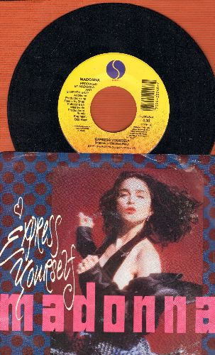 Madonna - Express Yourself (1990)/The Look Of Love (RARE alternate flip-side!)(with picture sleeve) - M10/EX8 - 45 rpm Records