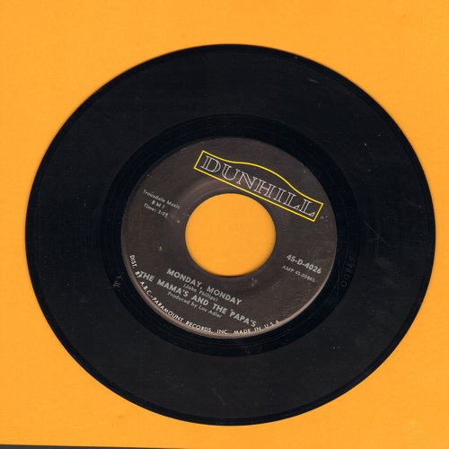 Mamas & Papas - Monday, Monday/Got A Feelin' - EX8/ - 45 rpm Records