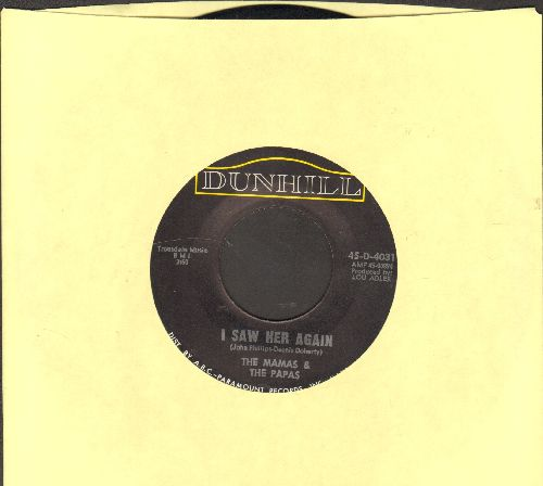 Mamas & Papas - I Saw Her Again (Last Night)/Even If I Could  - NM9/ - 45 rpm Records