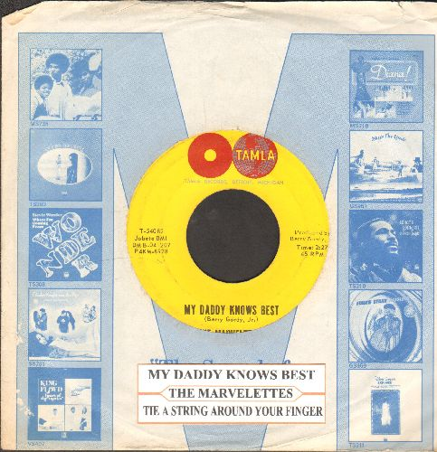 Marvelettes - My Daddy Knows Best/Tie A String Around Your Finger (withjuke box label and Motown company sleeve) - NM9/ - 45 rpm Records