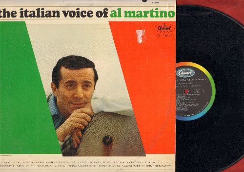 Martino, Al - The Italian Voice Of Al Martino: Al Di la, Torna A Surriento, La Starda Del Bosco, Chitarra Romana, Senza Nisciuno (vinyl MONO LP record, US Pressing, sung in Italain) - EX8/EX8 - LP Records
