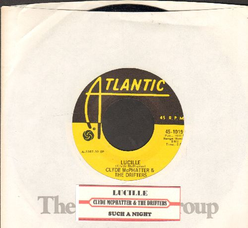 McPhatter, Clyde & The Drifters - Lucille/Such A Night (authentic-looking yellow label re-issue with Atlantic company sleeve and juke box label) - NM9/ - 45 rpm Records