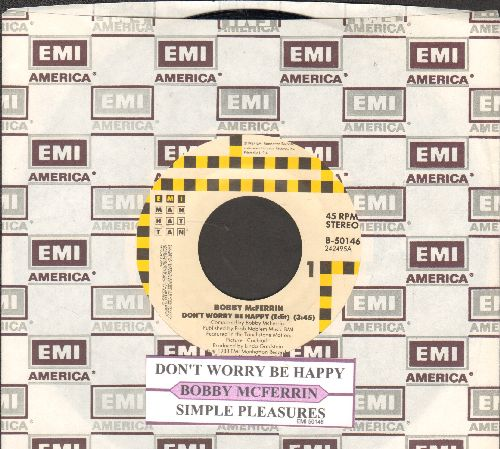 McFerrin, Bobby - Don't Worry Be Happy/Simple Pleasures (with juke box label and EMI company sleeve) - VG7/ - 45 rpm Records