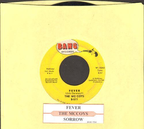 McCoys - Fever/Sorrow (with juke box label) - EX8/ - 45 rpm Records