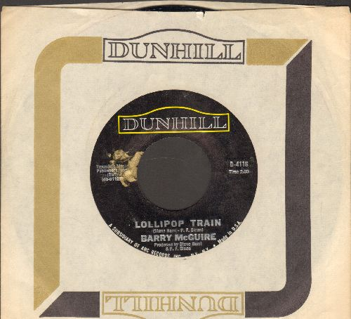 McGuire, Barry - Lollipop Train/Inner-Manipulations (with vintage Dunhill company sleeve) - NM9/ - 45 rpm Records
