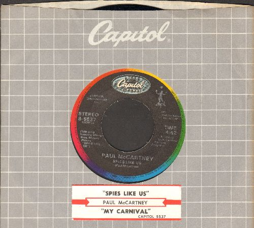 McCartney, Paul - Spies Like Us/My Carnival (with juke box label and Capitl company sleeve) - EX8/ - 45 rpm Records