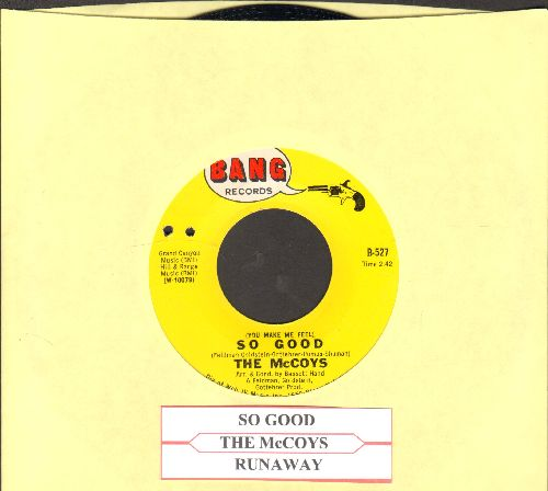 McCoys - You Make Me Feel So Good/Runaway (with juke box label) - VG7/ - 45 rpm Records