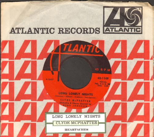 McPhatter, Clyde - Long Lonely Nights/Heartaches (with Atlantic company sleeve and juke box label) - NM9/ - 45 rpm Records