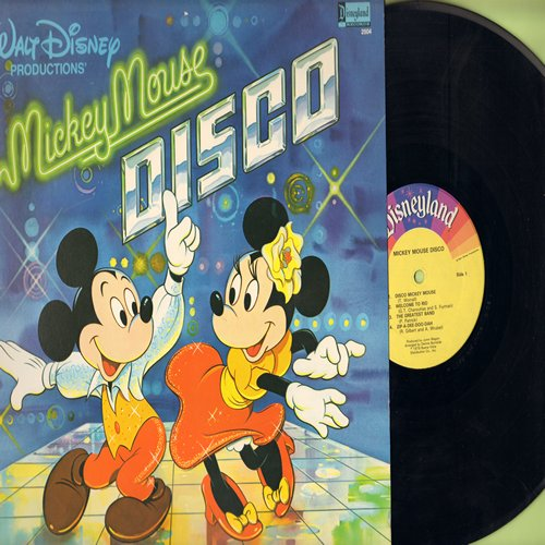 Disney - Mickey Mouse Disco: Macho Duck, Zip-A-Dee-Doo-Dah, It's A Small World, Disco Mickey Mouse, Mousetrap (Vinyl LP record) - EX8/EX8 - LP Records