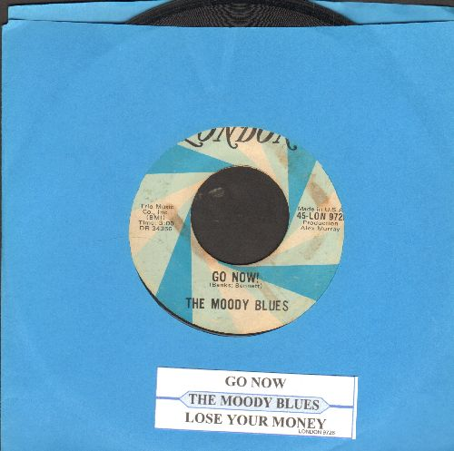 Moody Blues - Go Now!/Lose Your Money (with juke box label) - VG7/ - 45 rpm Records