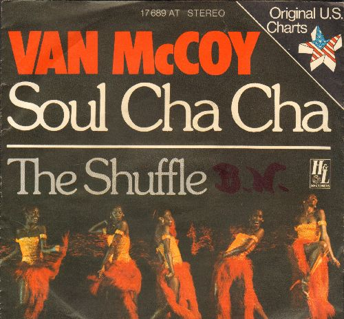 McCoy, Van - Soul Cha-Cha/The Shuffle (German Pressing with picture sleeve) (wol) - EX8/EX8 - 45 rpm Records