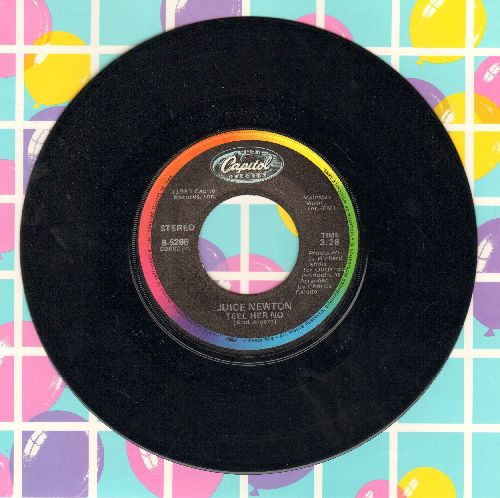 Newton, Juice - Tell Her No (FANTASTIC 1980s version of the 60s Classic 'Tell Him No')/Stranger At My Door (with picture sleeve) - EX8/ - 45 rpm Records