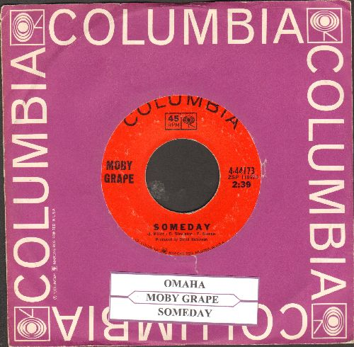 Moby Grape - Omaha/Someday (with juke box label and Columbia company sleeve) - EX8/ - 45 rpm Records