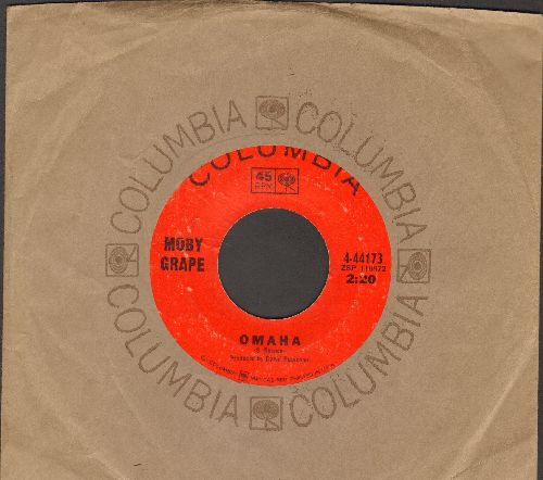 Moby Grape - Omaha/Someday (with Columbia company sleeve) - VG7/ - 45 rpm Records