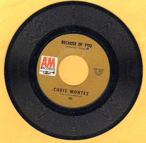 Montez, Chris - Because Of You/Elena (bb) - NM9/ - 45 rpm Records