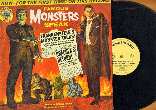 Famous Monsters Speak - Famous Monsters Speak - Written by Cherney Berg with Voices of Gabriel Dell (vinyl LP record, RARE Halloween Favorite!) - NM9/VG7 - LP Records