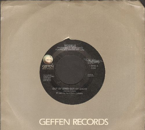 Models - Out Of Mind Out Of Sight/Down In The Garden (with Geffen company sleeve) - EX8/ - 45 rpm Records