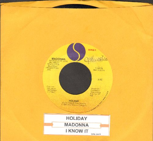 Madonna - Holiday/I Know It (with juke box label) - NM9/ - 45 rpm Records