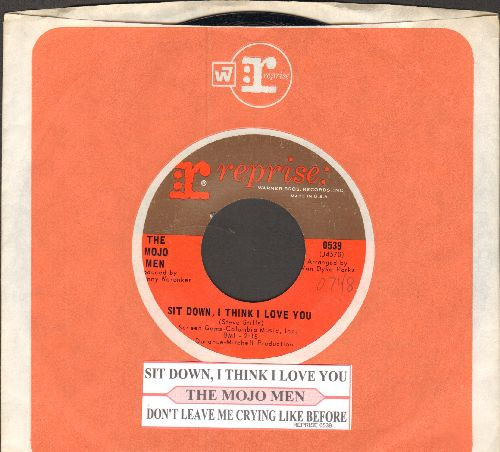 Mojo Men - Sit Down, I Think I Love You/Don't Leave Me Crying Like Before (with juke box label and Reprise company sleeve) - NM9/ - 45 rpm Records
