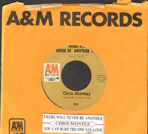 Montez, Chris - There Will Never Be Another You/You Can Hurt The One You Love (with A&M company sleeve and juke box label) - EX8/ - 45 rpm Records