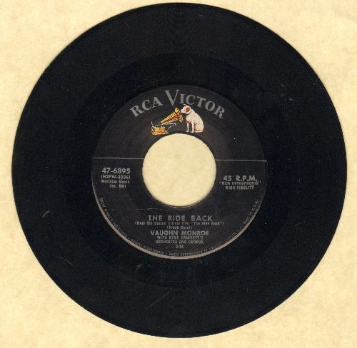 Monroe, Vaughn & Orchestra with Chorus - The Ride Back/Away Out West - EX8/ - 45 rpm Records