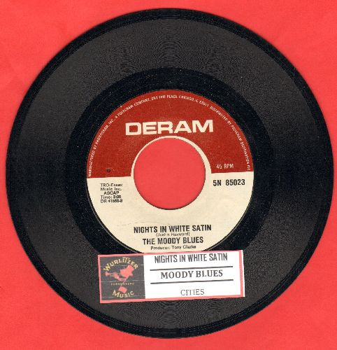 Moody Blues - Nights In White Satin/Cities (with juke box label) - NM9/ - 45 rpm Records