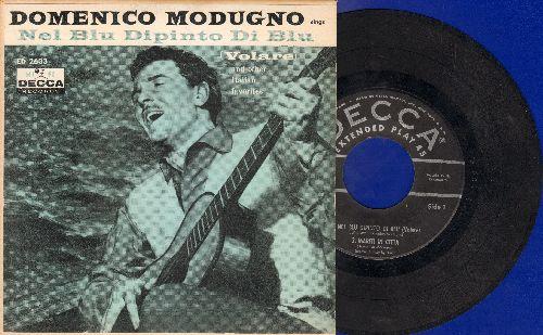 Modugno, Domenico - Nel Blu Dipinto Di Blu (Volare)/Marita In Citta/A Pizza C' 'A Pummarola (Vinyl EP record with picture cover) - G5/VG6 - 45 rpm Records