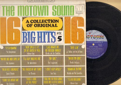 Walker, Jr. & The All Stars, Marvin Gaye, Temptations, Contours, Kim Weston, others - 16 Big Hits Vol. 5: Where Did Our Love Go, First I Look At The Purse, Nowhere To Run, I'll Be Doggone, Shot Gun, My Girl, The Tracks Of My Tears (Vinyl MONO LP record) -