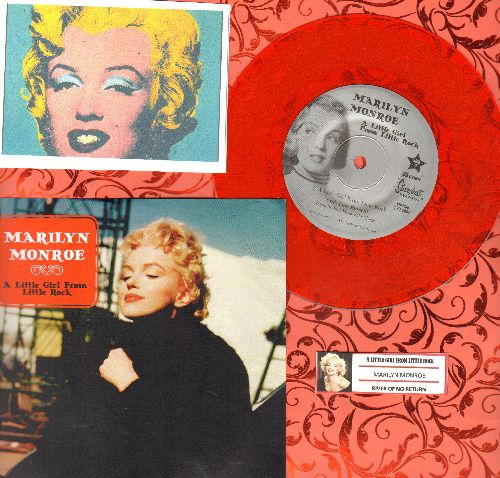 Monroe, Marilyn - A Little Girl From Little Rock/River Of No Return  (LIMITED EDITION 7 inch 33rpm RED VINYL pressing with picture sleeve, juke box label, suitable for framing!) - M10/M10 - 45 rpm Records