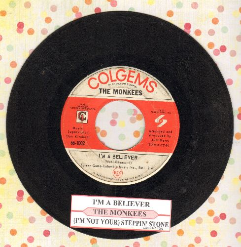 Monkees - I'm A Believer/(I'm Not Your) Steppin' Stone (with juke box label) - VG7/ - 45 rpm Records