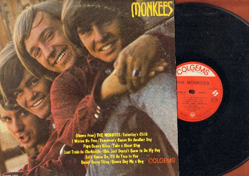 Monkees - Monkees: Last Train To Clarksville, I Wanna Be Free, Take A Giant Step, Gonna Buy Me A Dog (stereo) - EX8/VG7 - LP Records