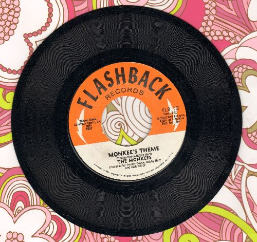 Monkees - Monkee's Theme/Last Train To Clarksville (double-hit re-issue) - NM9/ - 45 rpm Records