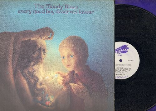 Moody Blues - Every Good Boy Deserves Favour: Procession, The Story In Your Eyes, You Can Never Go Home (vinyl STEREO LP record, gate-fold covr, song lyrics on inside sleeve) - NM9/VG7 - LP Records